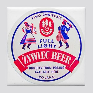 Poland Beer Label 2 Tile Coaster