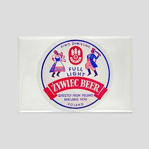 Poland Beer Label 2 Rectangle Magnet