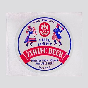 Poland Beer Label 2 Throw Blanket