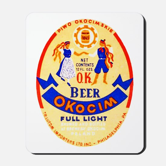 Poland Beer Label 1 Mousepad