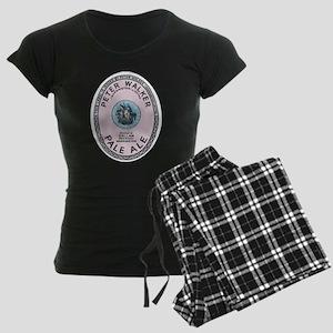 United Kingdom Beer Label 12 Women's Dark Pajamas