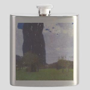 Gustav Klimt The Tall Poplar Trees Flask
