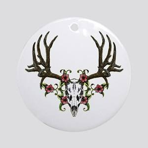 European mount mule deer Ornament (Round)