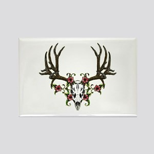 European mount mule deer Rectangle Magnet