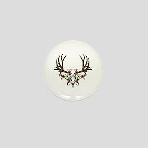 European mount mule deer Mini Button