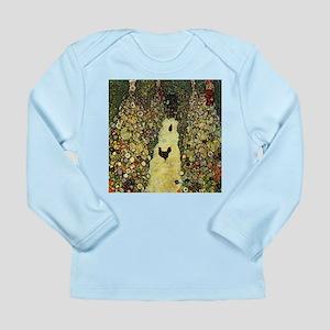 Gustav Klimt Garden Paths With Chickens Long Sleev