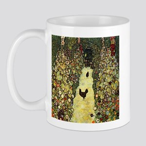 Gustav Klimt Garden Paths With Chickens Mug