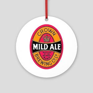 United Kingdom Beer Label 3 Ornament (Round)