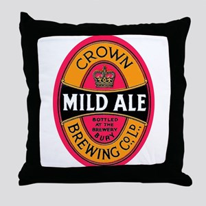 United Kingdom Beer Label 3 Throw Pillow
