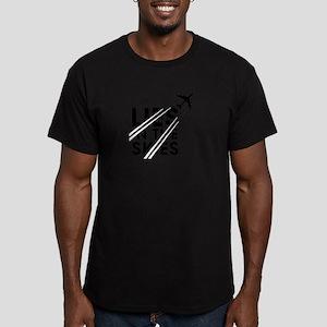 Chemtrails Men's Fitted T-Shirt (dark)
