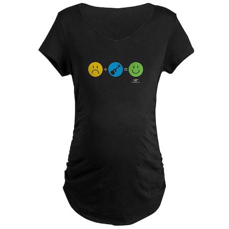 Happy Ukulele Maternity Dark T-Shirt
