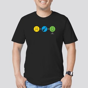 Happy Ukulele Men's Fitted T-Shirt (dark)