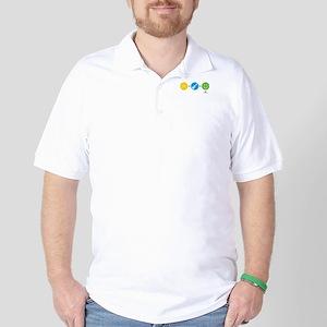 Happy Ukulele Golf Shirt