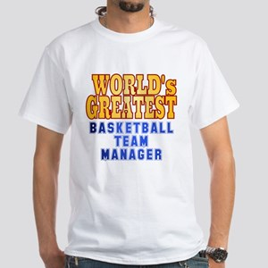 World's Greatest Basketball Team Manager White T-S