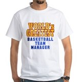 Basketball manager Mens Classic White T-Shirts