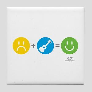 Happy Ukulele Tile Coaster