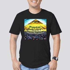 Freedom is the Price of Men's Fitted T-Shirt (dark