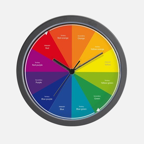 The Color Wheel Wall Clock
