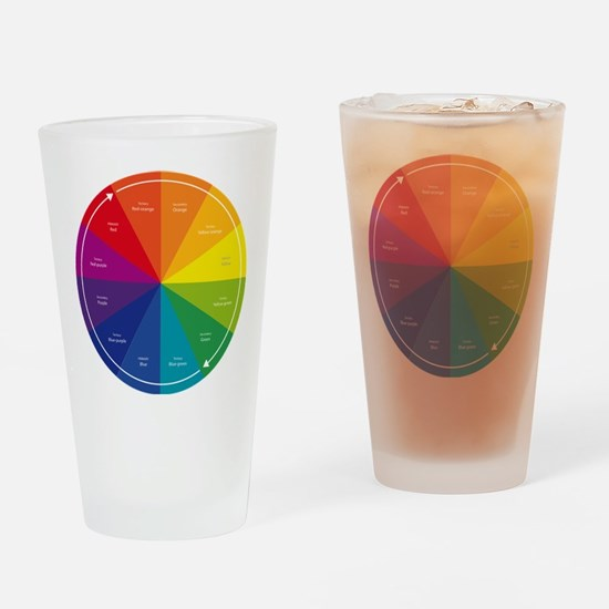 The Color Wheel Drinking Glass