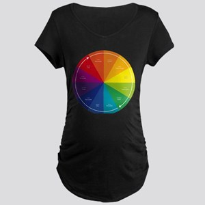 The Color Wheel Maternity Dark T-Shirt