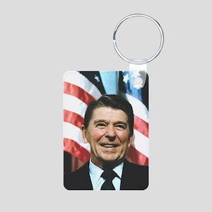Reagan is the key Aluminum Photo Keychain