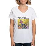 Air guitar Women's V-Neck T-Shirt