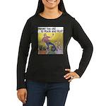 Air guitar Women's Long Sleeve Dark T-Shirt