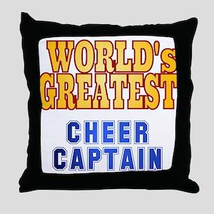World's Greatest Cheer Captain Throw Pillow