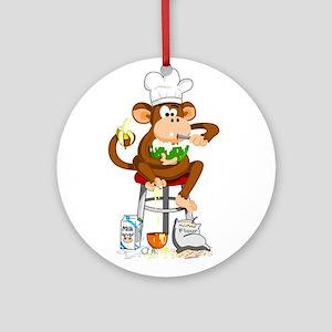 Monkey Chef Ornament (Round)