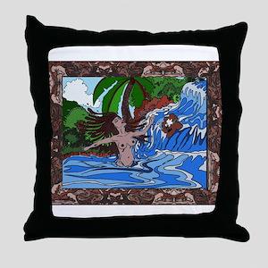 JamaicanWaterfall Throw Pillow