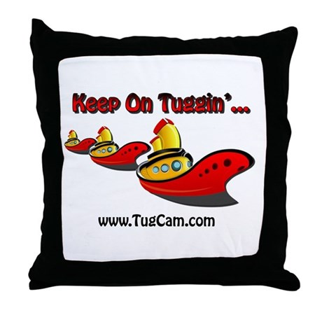 Keep on Tuggin' Throw Pillow