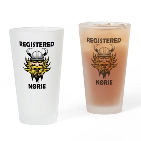 Registered Norse Drinking Glass