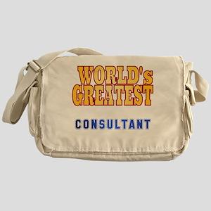 World's Greatest Consultant Messenger Bag