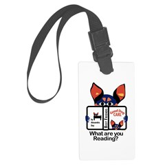 Reading Dog Luggage Tag