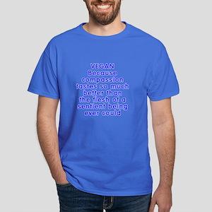 VEGAN because compassion - Dark T-Shirt