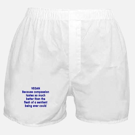 VEGAN because compassion - Boxer Shorts