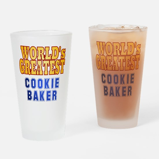 World's Greatest Cookie Baker Drinking Glass