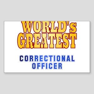 World's Greatest Correctional Officer Sticker (Rec