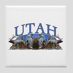 Utah Big Game Tile Coaster