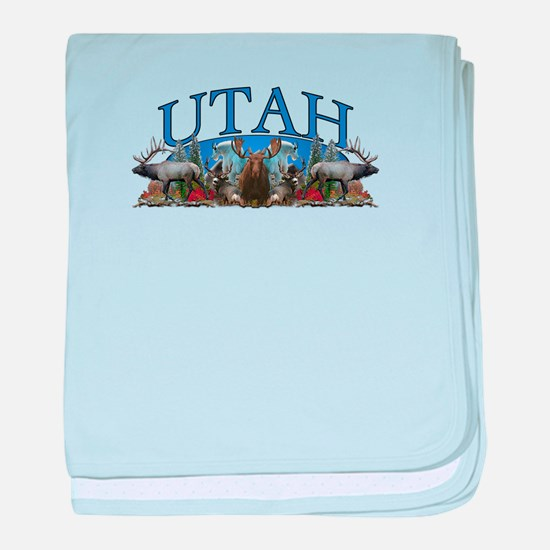 Utah Big Game baby blanket