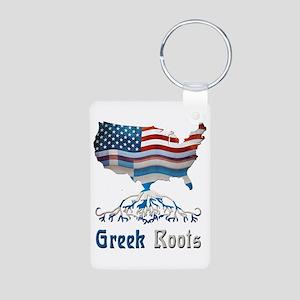 American Greek Roots Aluminum Photo Keychain
