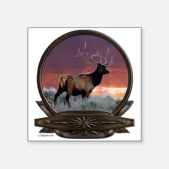 """elk crest.png Square Sticker 3"""" x 3"""""""