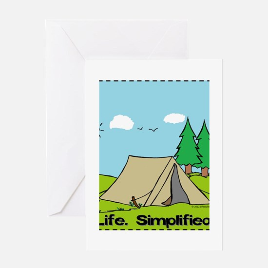 Life Simplified Outdoors Greeting Card