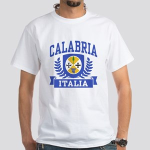 Calabria Italia Coat of Arms White T-Shirt