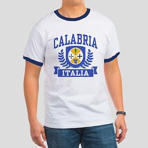 Calabria Italia Coat of Arms Ringer T