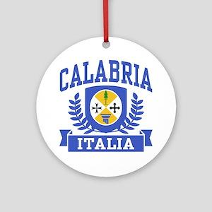 Calabria Italia Coat of Arms Ornament (Round)