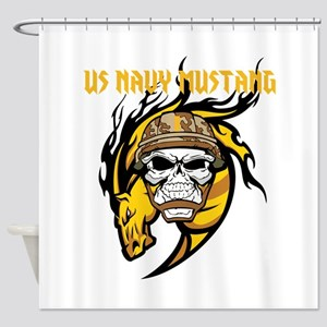 US Navy Mustang Shower Curtain