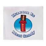 Bacon is Meat Candy02 Throw Blanket