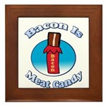Bacon is Meat Candy02 Framed Tile