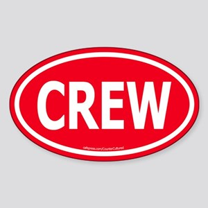 CREW Euro Oval Sticker